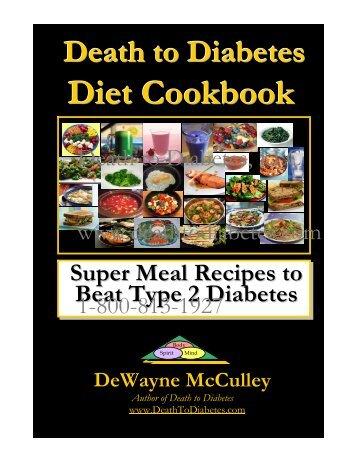 Diet Cookbook - Death to Diabetes