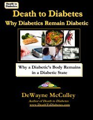 Why Diabetics Remain Diabetic - Death to Diabetes