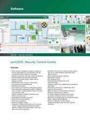 Software psm2200, Security Control Centre - primion Technology AG