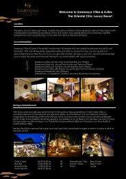 DownLoad Sareeraya Fact Sheet - Sareeraya Villas & Suites
