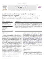 Phenolic composition and antioxidant activity of ... - Panela Monitor