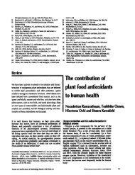 The contribution of plant food antioxidants to ... - Panela Monitor