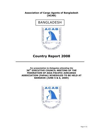 Country Report 2008 BANGLADESH - FAPAA
