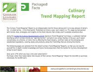 Culinary Trend Mapping Report - Packaged Facts
