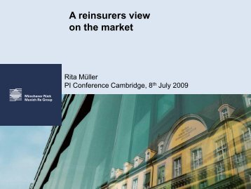A reinsurers view on the market - Insurance Market Conferences