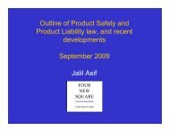 Recent Developments in Products Liability Law - Insurance Market ...