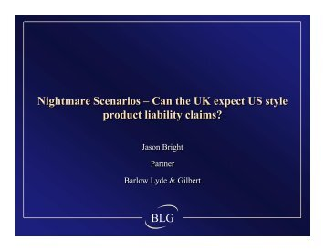Can the UK expect US style product liability claims? - Insurance ...