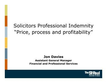 Travelers Professional Indemnity Insurance Solicitors