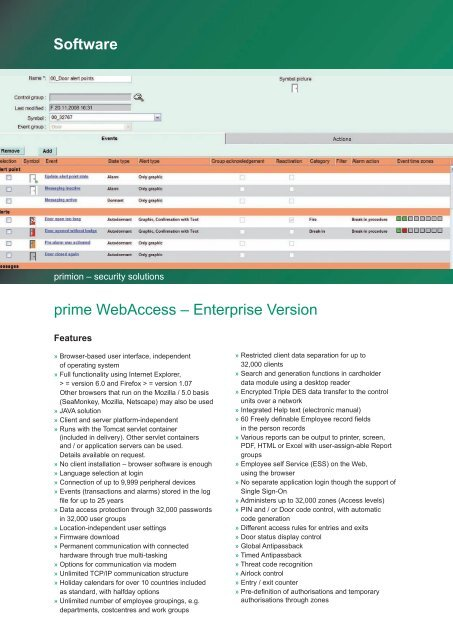 Software - primion Technology AG
