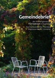 Gemeinde - Kirchengemeinde • Paul-Gerhardt