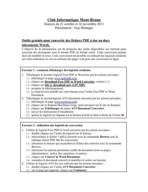 Outils Pour Transformer Les Documents Pdf En Doc Ou Docx Club