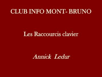 Album photo - Club informatique Mont-Bruno