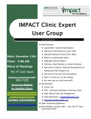 Clinic Expert Users Group Meeting Minutes 12/13/2011 - IMPACT ...