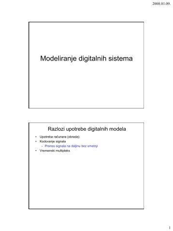 Modeliranje digitalnih sistema 2007