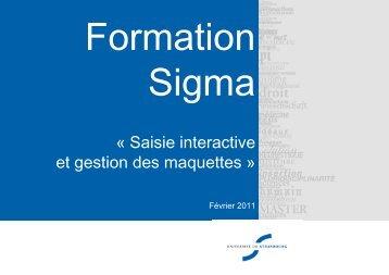 Présentation des formations SIGMA