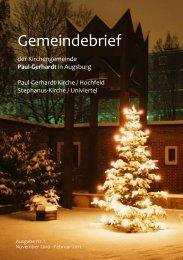 Gottesdienste in der Advents- und Weihnachtszeit