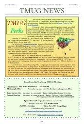 November 2011 TMUG News - Transylvania Mac Users Group