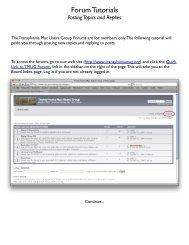 Forum Tutorials - Transylvania Mac Users Group