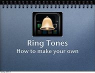PDF FILE: How to Make Your Own Ringtones