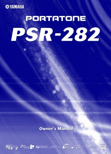 PSR 282 Manual - PSU Music Technology