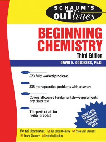 Schaum's Outline of Theory and Problems of Beginning Chemistry