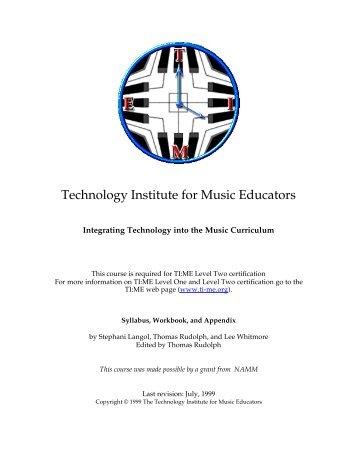 Technology Institute for Music Educators - PSU Music Technology