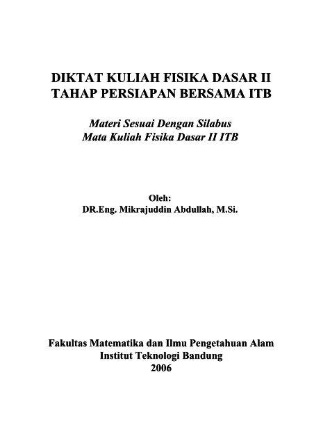 Materi Kuliah Fisika Dasar 1 Pdf