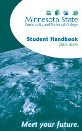 Student Handbook - Minnesota State Community and Technical ...