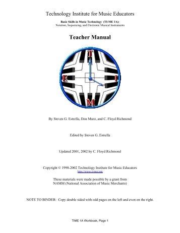 Teacher Manual - PSU Music Technology