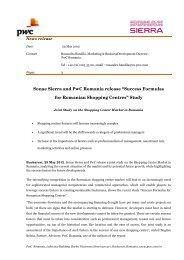 Success Formulas for Romanian Shopping Centres - PwC Romania
