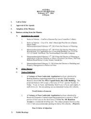 Council Agenda Monday, February 22, 2010 - City of St. John's