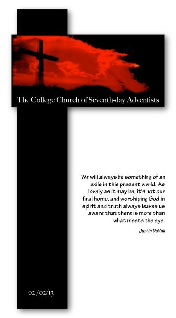Web Bulletin - Atlantic Union College Church
