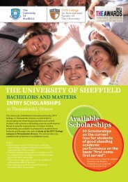 Available Scholarships THE UNIVERSITY OF ... - City College