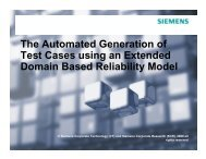 The Automated Generation of Test Cases using an Extended ...