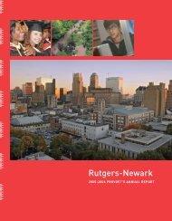 Rutgers-Newark Provost's Annual Report, 2005-2006