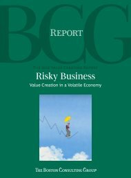 Value Creation in a Volatile Economy - Boston Consulting Group