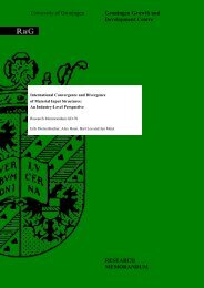 University of Groningen Groningen Growth and Development Centre ...
