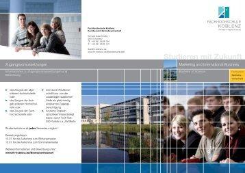 Studieren mit Zukunft - Fachhochschule Koblenz