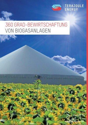 360 Grad-Bewirtschaftung von Biogasanlagen - TeraJoule Energy
