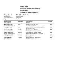 OSEW 2012 Startliste Solisten Wettbewerb Blech / Holz Sonntag, 9 ...