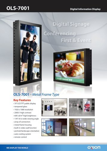 Digital Signage Conferencing First & Event OLS-7001