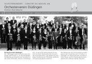 Orchesterverein Düdingen - Cantorama