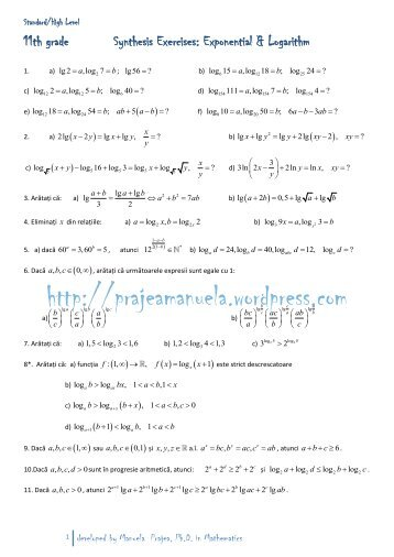 synthesist and logarithms Using logarithms in the real world logarithms find the cause for an effect, ie the input for some output a common effect is seeing something grow.