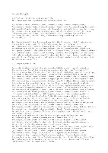 Martin Stenge - Rainer Hampp Verlag