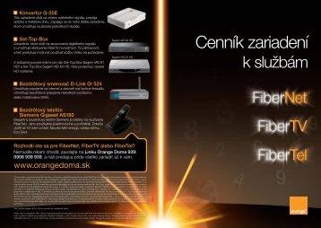 03. FTTH cennik_RR1_update1_V02.indd - Orange Slovensko, as