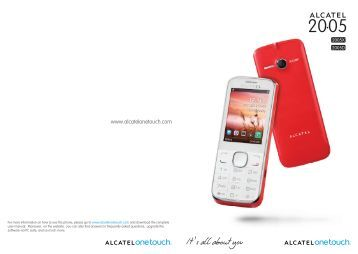Download - ALCATEL ONE TOUCH - Support