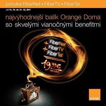 OR FTTH LETAK 20x20 VIANOCE ZMENA.indd - Orange Slovensko ...
