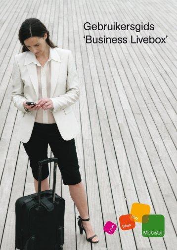 Gebruikersgids 'Business Livebox' - Mobistar