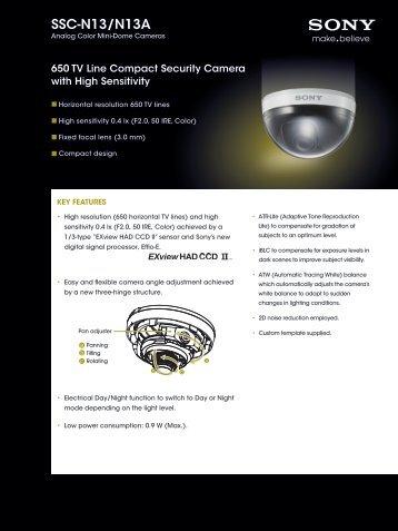 SSC-N13/N13A - Elvia CCTV