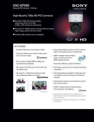 SNC-EP550 - Elvia CCTV